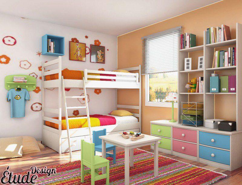 اتاف کودک دو نفره تخت دو طبقه