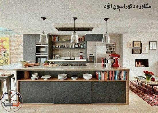 طراحی دکوراسیون آشپزخانه شیک مدرن