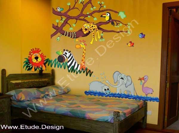 تزیین اتاق کودک با تم جنگل