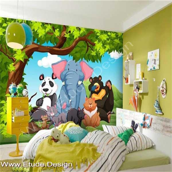 اتاق کودک تم حیوانات