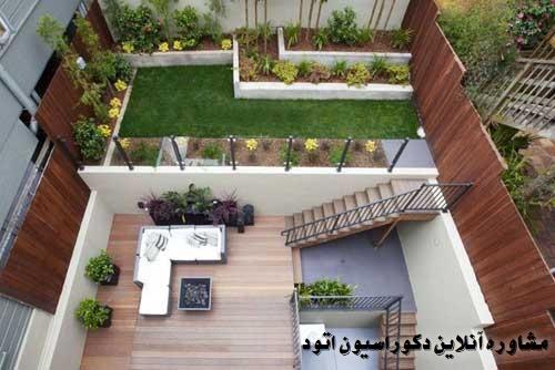 طراحی حیاط خانه ایرانی