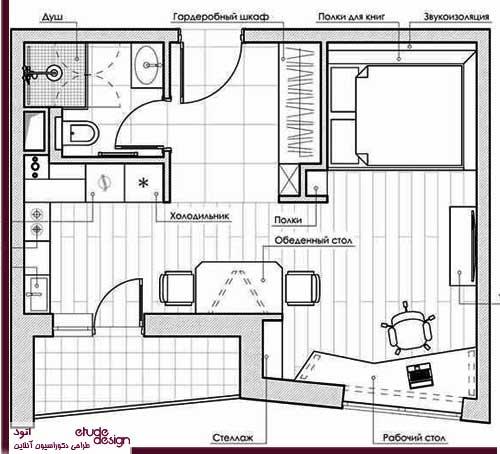 دکوراسیون منزل کوچک و مدرن