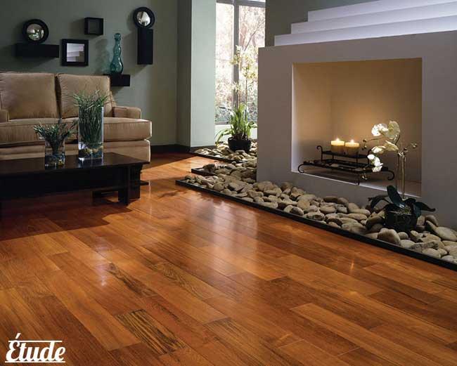 کفپوش های طرح چوب، حس گرما و صمیمت به فضا می بخشند...