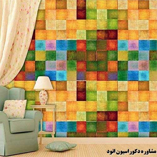 طرحهای جدید کاغذ دیواری پذیرایی