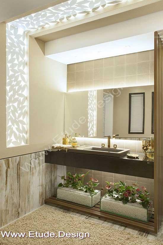 تزیین آینه سرویس بهداشتی