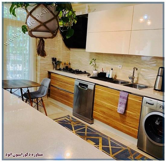 طراحی آشپزخانه 12 متری