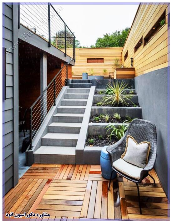 تزیین پله حیاط