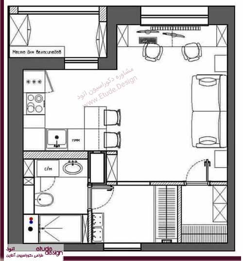 دکوراسیون منزل کوچک و ساده