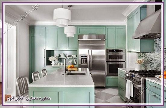 ترکیب رنگ طوسی و آبی فیروزه ای