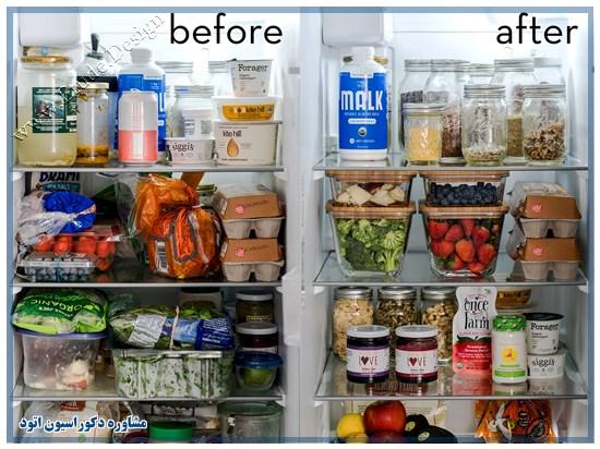قبل و بعد از تمیز کردن یخچال