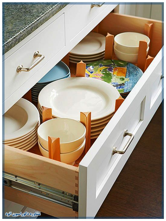 مرتب کردن کشو آشپزخانه