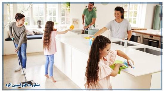 آشپزخانه تمیز شیک