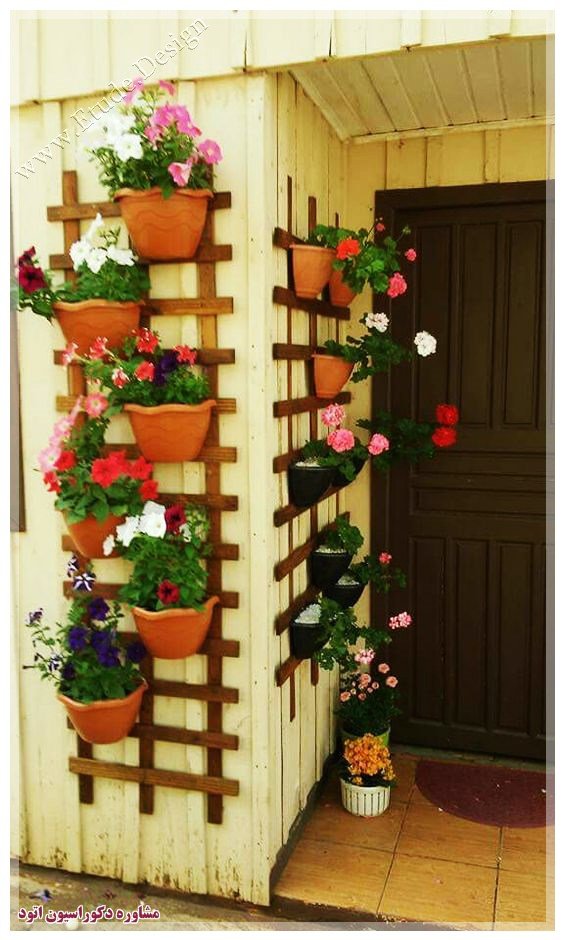 گلدان گل در تزیین منزل