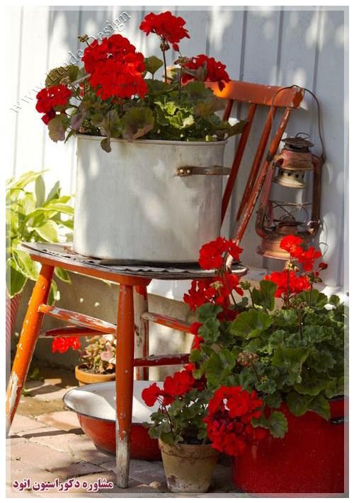 تزیین خانه با گلدان گل