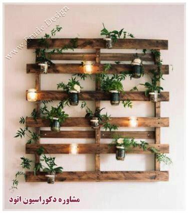 ساخت گلدان گل چوبی
