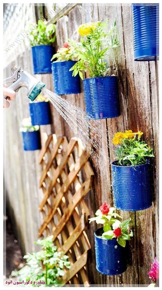 ساخت گلدان با وسایل دورریختنی
