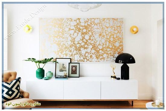 کاغذ دیواری سفید طلایی