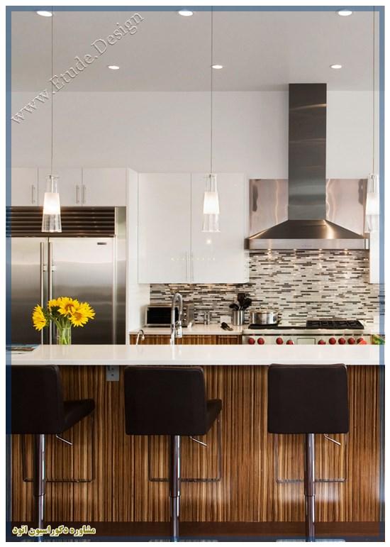 آشپزخانه لوکس سفید طلایی