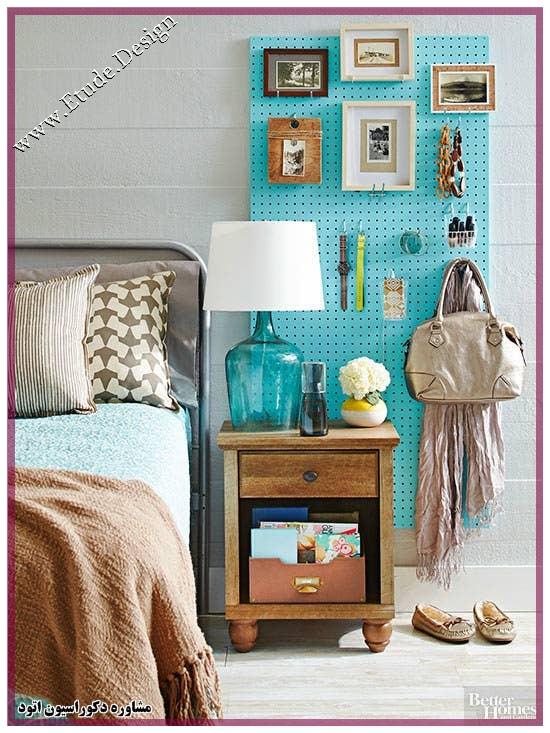 چیدمان اتاق خواب کوچک با وسایل ساده