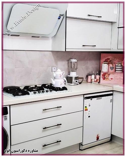 آشپزخونه کوچک سفید